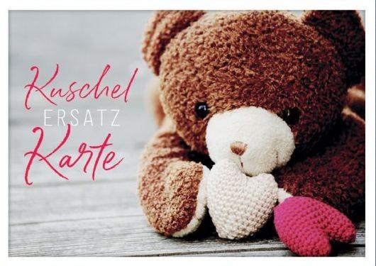 Postkarte Kuschelersatzkarte, ca. 15x10 cm