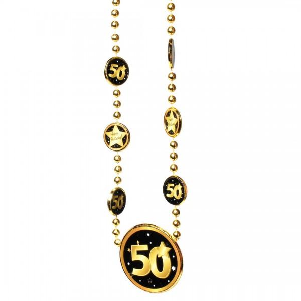 Kette 50 schwarz/gold