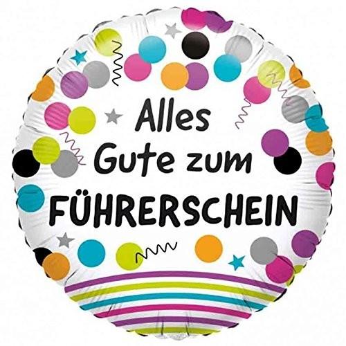 Folienballon Alles Gute zum Führerschein, ca. 43 cm