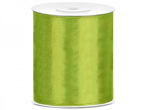 Tischband Satinband 10 cm x 25 Meter Rolle hellgrün