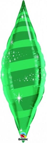 Folienballon Taper Swirl, grün, ca. 95 cm