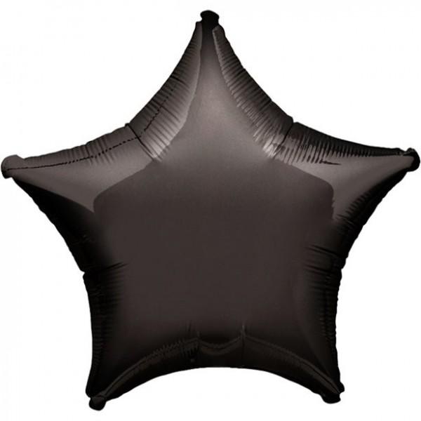 Folienstern schwarz, Riesenballon, ca. 90 cm