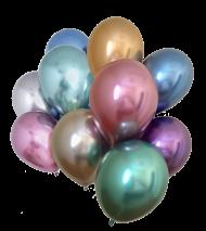 sortierte Chrome Glossy Ballons Mini, 50 St.
