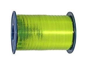 Polyband, hellgrün, Metallic, 400 Meter-Rolle