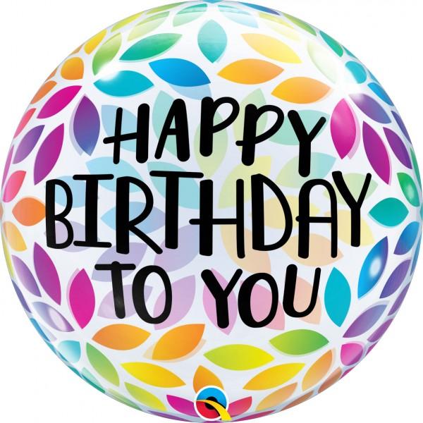 Bubble Happy Birthday to you, Rainbowcolours, ca. 56 cm