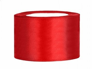 Satinband 3,8 cm x 25 Meter Rolle rot