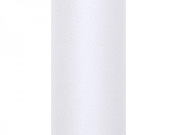 Tüll WEIß, 30 cm Breite, 9 Meter Rolle