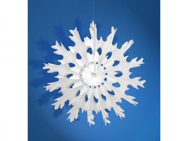 Wabenfächer Schneeflocke weiß, ca. 45 cm, 1 St.