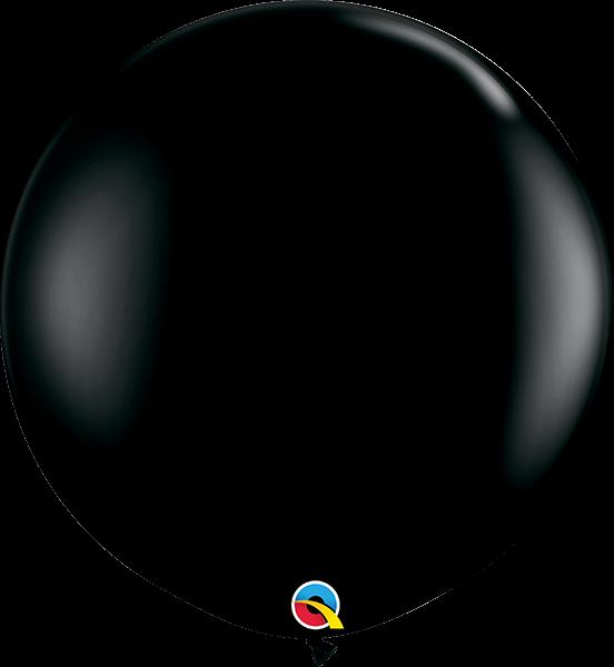Riesenballon Qualatex, ca. 90 cm, black/schwarz