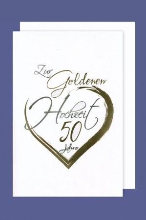 Grußkarte: Zur goldenen Hochzeit 50 Jahre