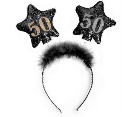 Haarreifen 50, schwarz, Einheitsgröße
