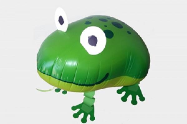 Ballongruß: Frosch, Airwalker, ca. 50 cm