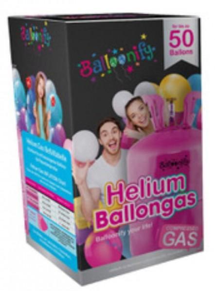 Ballongas, Einweg-Behälter, 0,42 cbm - groß