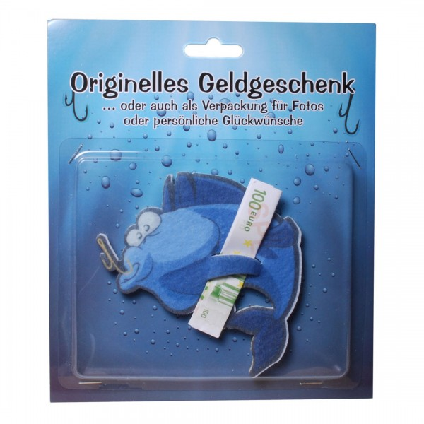 Angler Fisch Filz für z.B. Geldgeschenk, 11,5 x 11 cm