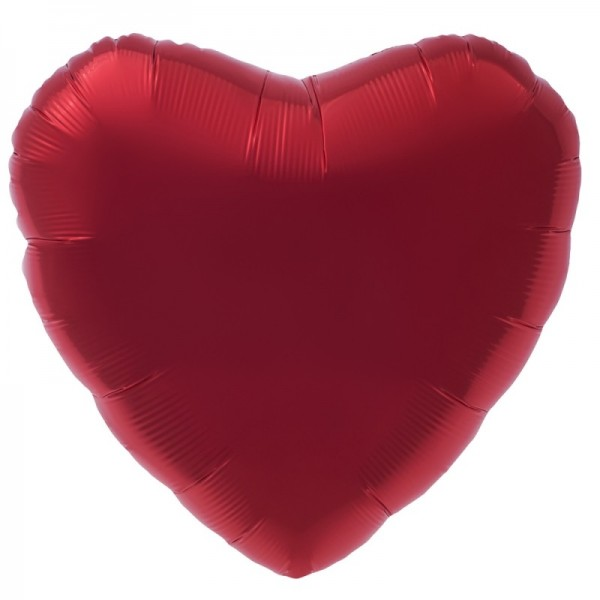 Folienherz rot, luftgefüllt, ca. 20 cm