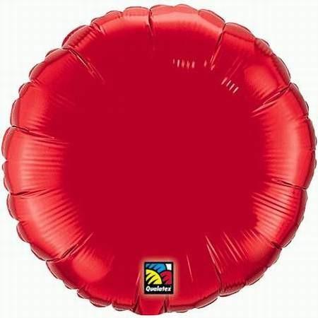Ballongruß: Rund, rot, ca. 45 cm