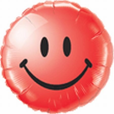 Ballongruß: Happy Face, rot, ca. 45 cm