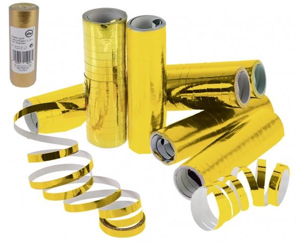 Luftschlangen, Metallic GOLD, 1 Rolle