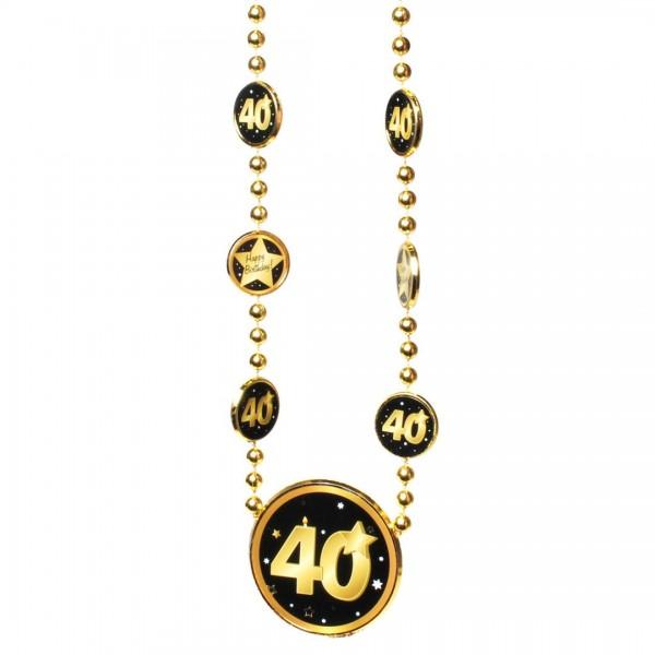 Kette 40 schwarz/gold