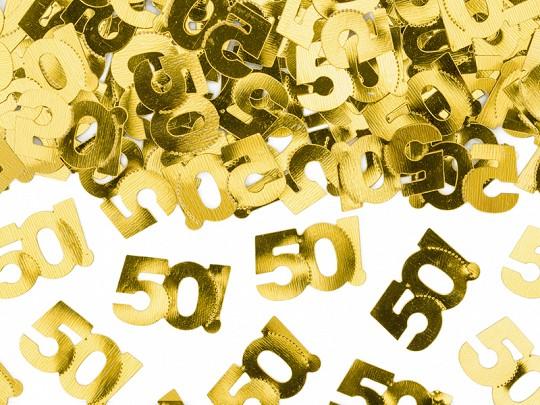 Folien-Konfetti 50!, gold, ca. 15 gr.