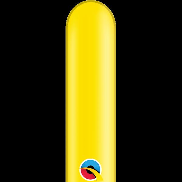 50 Modellierballons 646Q gelb