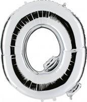 Folienballon Buchstabe Q, silber, ca. 100 cm