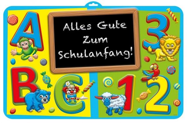 Dekoschild Alles Gute zum Schulanfang, 123 ABC, ca. 58x35 cm