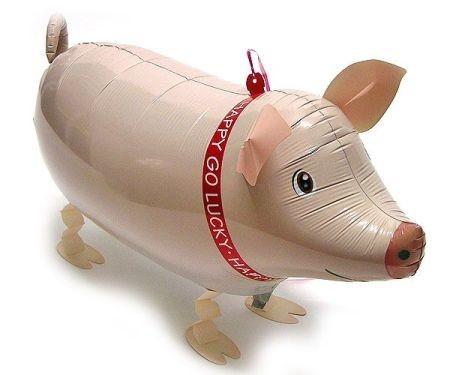 Ballongruß: Schwein, Airwalker, ca. 60 cm
