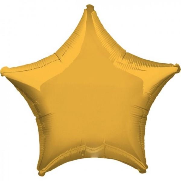 Folienstern gold, Riesenballon, ca. 90 cm
