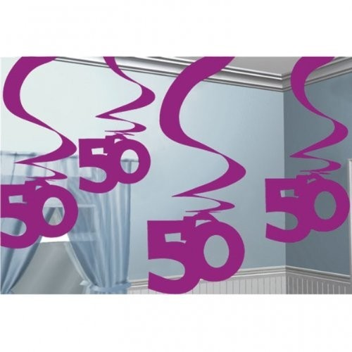 Swirl Dekoration 50 pink, ca. 60 cm, 5 St.
