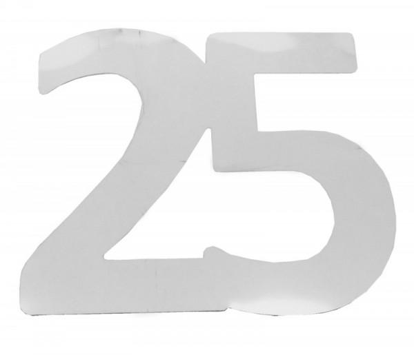 Riesen - Streudeko 25 silber, ca. 13 cm, Folie, 6 St.