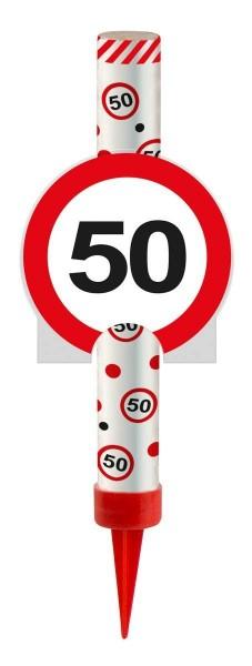 Zaubersterne 50 Verkehrsschild, Eisfontäne, ca. 14 cm