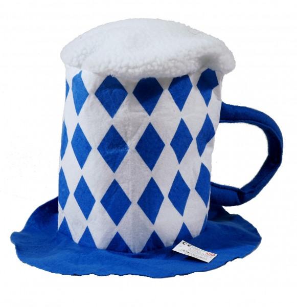 Bierhut blau/weiß, Einheitsgröße