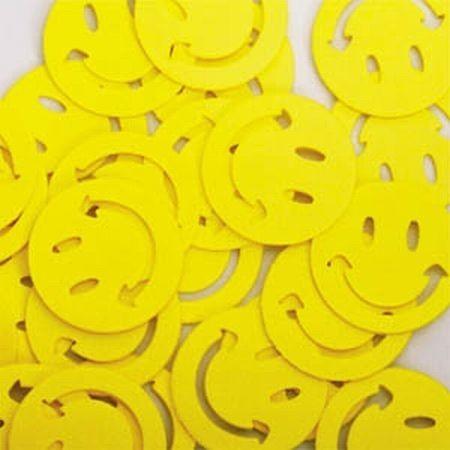 Folien-Konfetti Happy Face, gelb, Box ca. 5,7x4x1,2 cm