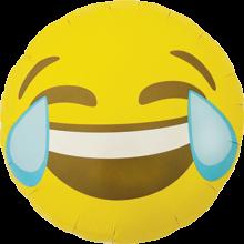 Folienballon Emoji Crying Laughing, ca. 45 cm