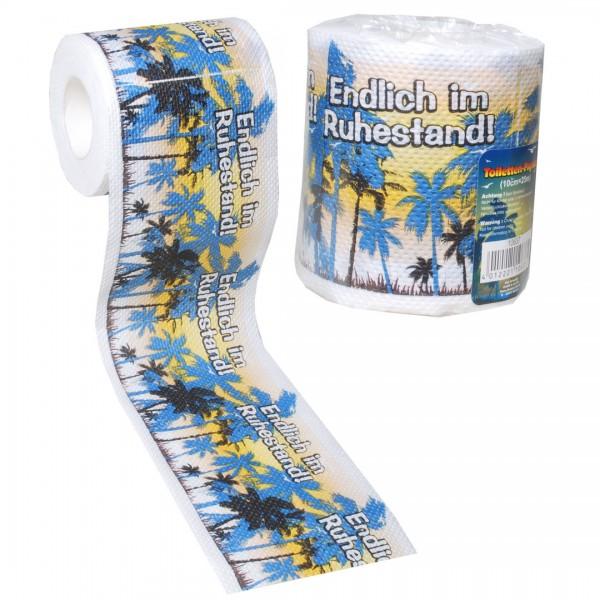 Endlich im Ruhestand Toilettenpapier 1 Rolle
