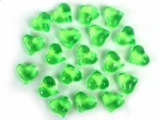 Acrylherzen grün, ca. 2 cm, 30 St.