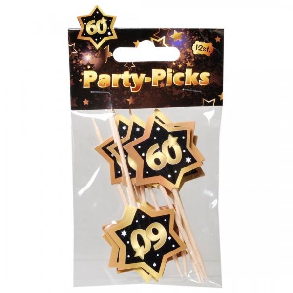 Picker 60 schwarz/gold, 12 St.