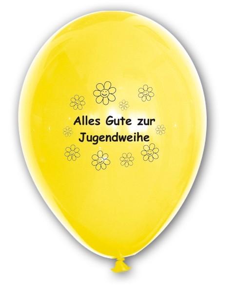 10 Ballons Alles Gute zur Jugendweihe, bunt gemischt, ca. 30 cm