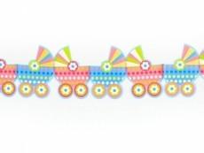 Girlande Kinderwagen, 14 cm x 3 Meter