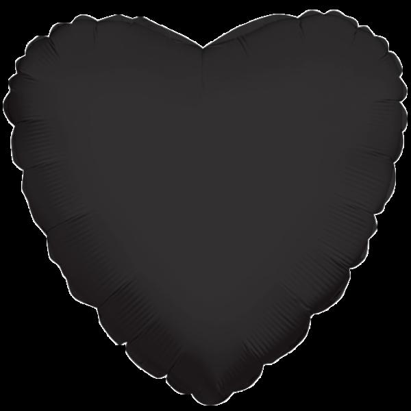 Folienherz schwarz, ca. 45 cm Durchmesser