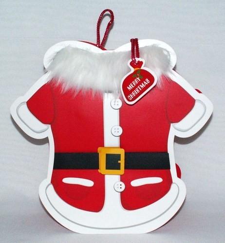 Geschenktasche Weihnachtsmantel, 3D-Optik