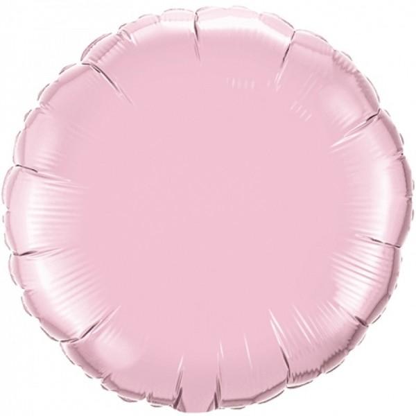 Folienballon rund rosa, ca. 45 cm