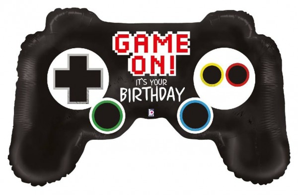Folien-Shape Game on it`s your Birthday, Game Controller, ca. 91 cm