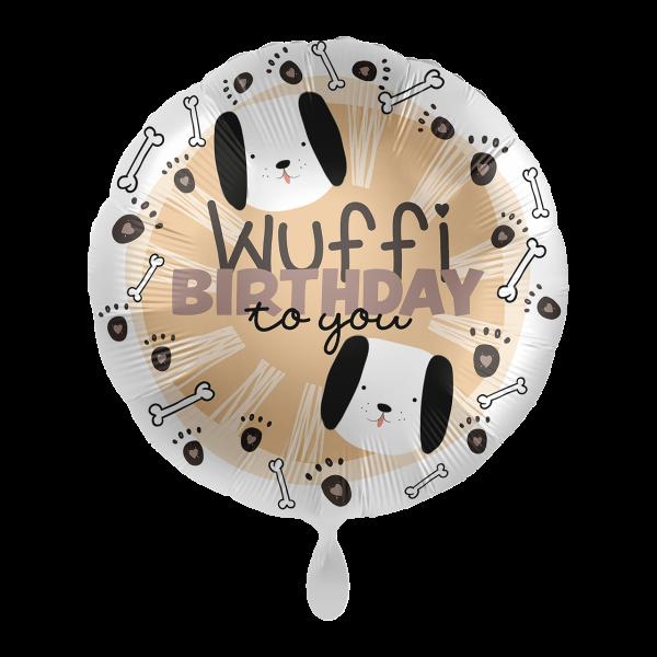 Ballongruß: Wuffi Birthday to you, ca. 45 cm