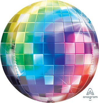Ballongruß: Discokugel, ca. 45 cm