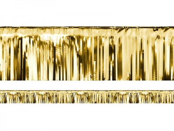 Lamettagirlande Fransengirlande gold, 4 Meter