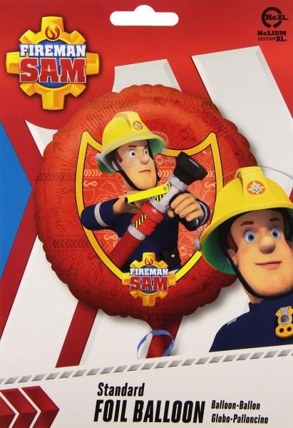 Folienballon Fireman Sam Feuerwehrmann, ca. 45 cm
