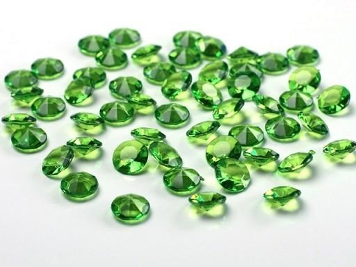 Deko-Diamanten Acryl HELLGRÜN, 100 St., 12 mm