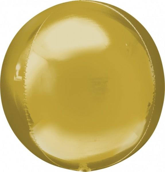 Folienballon Ball/Kugel Orbz , ca. 40 cm, gold